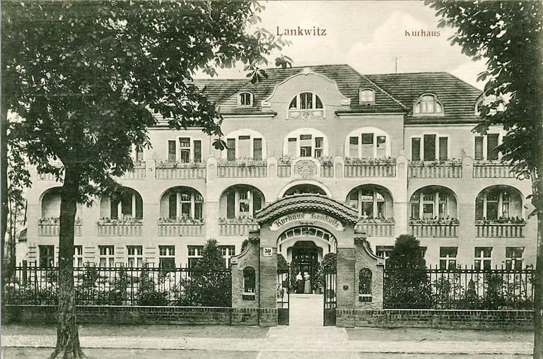 Privat-Heil- und Pflegeanstalt Berolinum von Fraenkel und Oliven in der Leonorenstraße 17-33 um 1907. Archiv Jörg Becker Immobilien