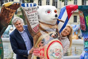 Bärenstarkes Team: Eva und Klaus Herlitz. Foto Buddy Bär Berlin
