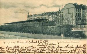 Der alte Bahnhof Friedenau-Wilmersdorf. Archiv FBS