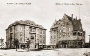 1909 wurde der Bahnhof Botanischer Garten eingeweiht. Archiv Jörg Becker Immobilien