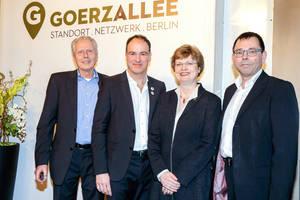 Für einen Industrie- und Gewerbepark Goerzallee: Dr.R. Baumgarten, S.Schobinger, C. Richter-Kotowski, Thomas Herrmann (v.l.n.r.). Foto: Goerzallee e.V.