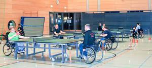 Die geräumige Halle: mit und ohne Rollstuhl sportgerecht.