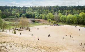 Die 1983 stillgelegte Sandgrube ist heute ein Paradies für Mensch und Natur.