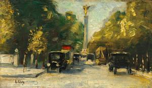 Lesser Ury, Siegesallee mit Siegessäule im Sommer, ca. 1925, Galerie Ludorff, Düsseldorf. Foto: Achim Kukulies,