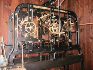 Uhrwerk der Turmuhr. Foto: FBS