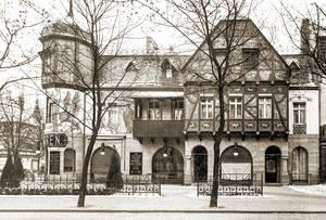 Historisches Foto des Emisch-Hauses um 1900.