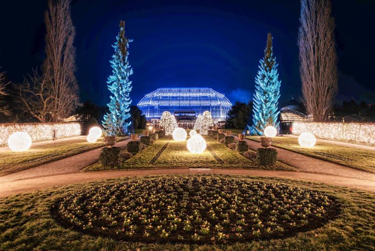 Der Botanische Garten in märchenhaftem Gewand. Foto: Sven Bayer