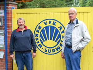 Peter Nehring (r.) und Harald Nuding – seit vielen Jahren dem Verein und der Körperkultur verbunden. Fotos Lorenz/VFK