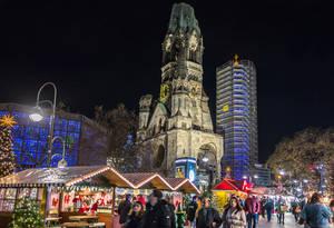 Der Weihnachtsmarkt an der Gedächtniskirche öffnet am 27.November.