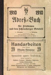 Einband Adreßbuch. Archiv FBS