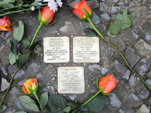 Stolpersteine an der Hewaldstraße6Foto: Museen Tempelhof-Schöneberg