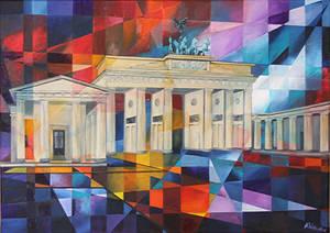 Das Brandenburger Tor, Bild von Angelika Watteroth, wird im AETKA Communication Center ausgestellt.