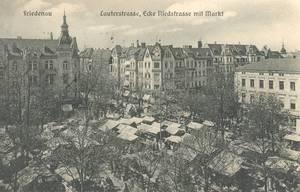 Ecke Lauterstraße – rechts am Bildrand das Kaufhaus Bry. Archiv fbs