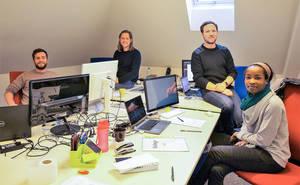 """Das """"Inspirient""""-Gründerteam: Datenanalyse via künstlicher Intelligenz."""