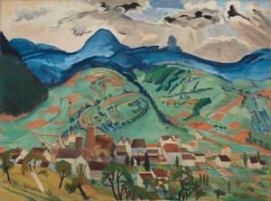 Erich Heckel, Annweiler, 1933, Tempera auf Leinwand, Brücke-Museum, © Nachlass Erich Heckel, Hemmenhofen