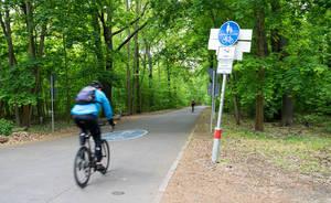 Künftig noch schneller mit dem Rad in die City fahren - der Kronprinzessinnenweg soll Teil einer Radschnellverbindung werden.
