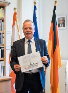 Schulleiter Michael Rudolph freut sich über die gute Bilanz der Friedrich-Bergius-Schule und auf ein weiteres Dienstjahr.