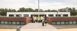 Das Stadion Wannsee, sportliche Heimat des FV Wannsee.