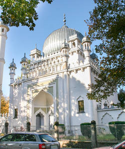 Ein Hauch von Orient in Wilmersdorf: Die Ahmadiyya Lahore Moschee.