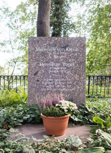 Grabsetein von Henriette Vogel und heinrich von Kleist am Kleinen Wannsee.