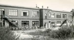 Der letzte Standort des Bauhaus: Alte Telefonfabrik in der Birkbuschstraße. Foto: Bauhaus Archiv Berlin