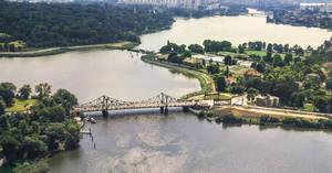 Glinicker Brücke vor der Wiedervereinigung. Archiv HVZ