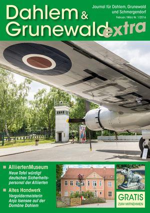 Titelbild Dahlem & Grunewald Journal 1/2016