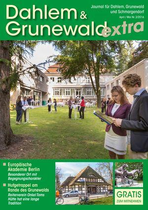 Titelbild Dahlem & Grunewald Journal 2/2016