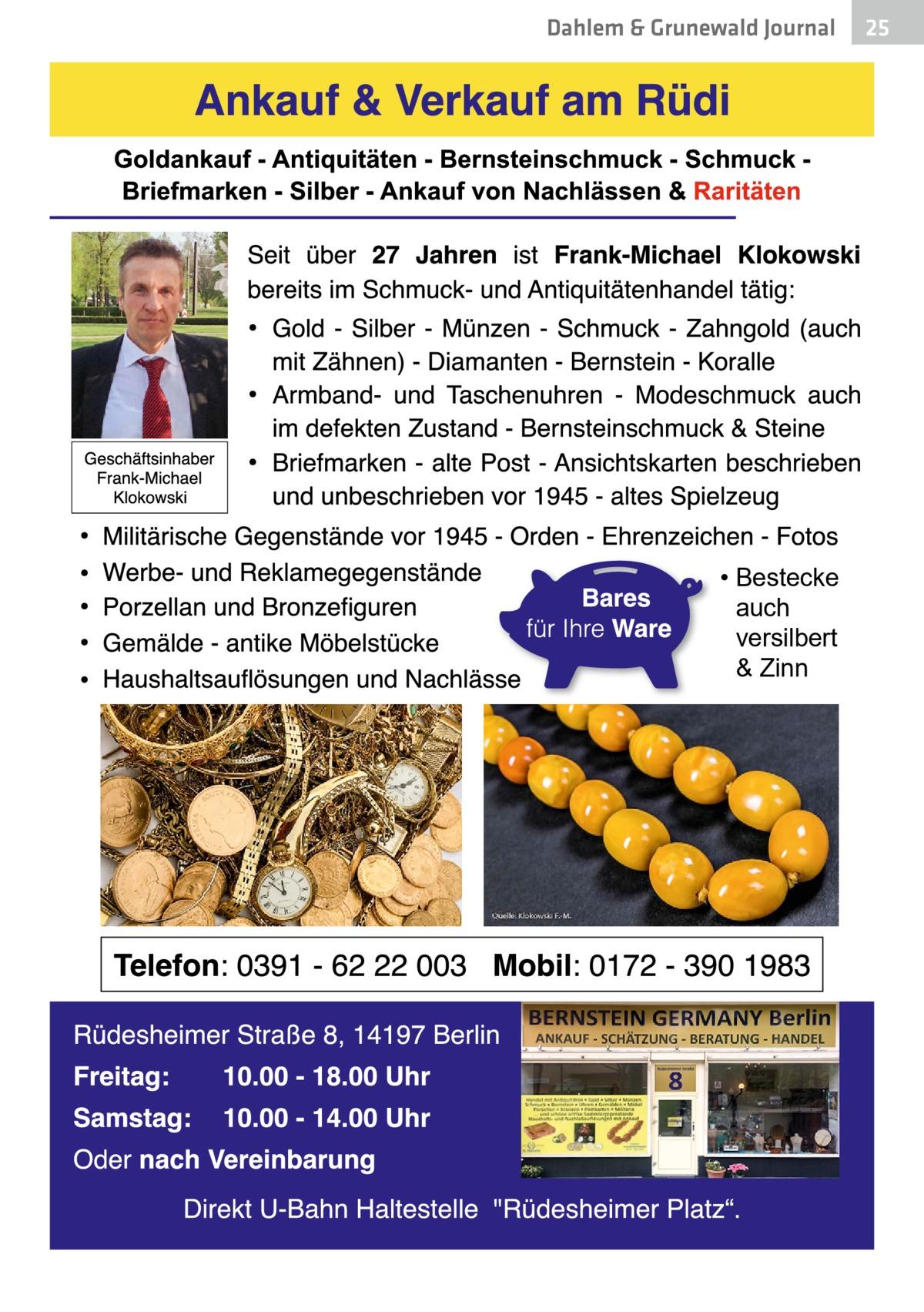 Dahlem & Grunewald Journal  • Bestecke auch versilbert & Zinn  25 25