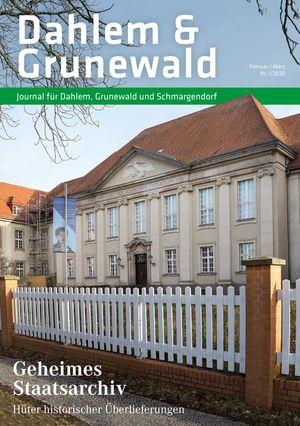 Titelbild Dahlem & Grunewald Journal 1/2020