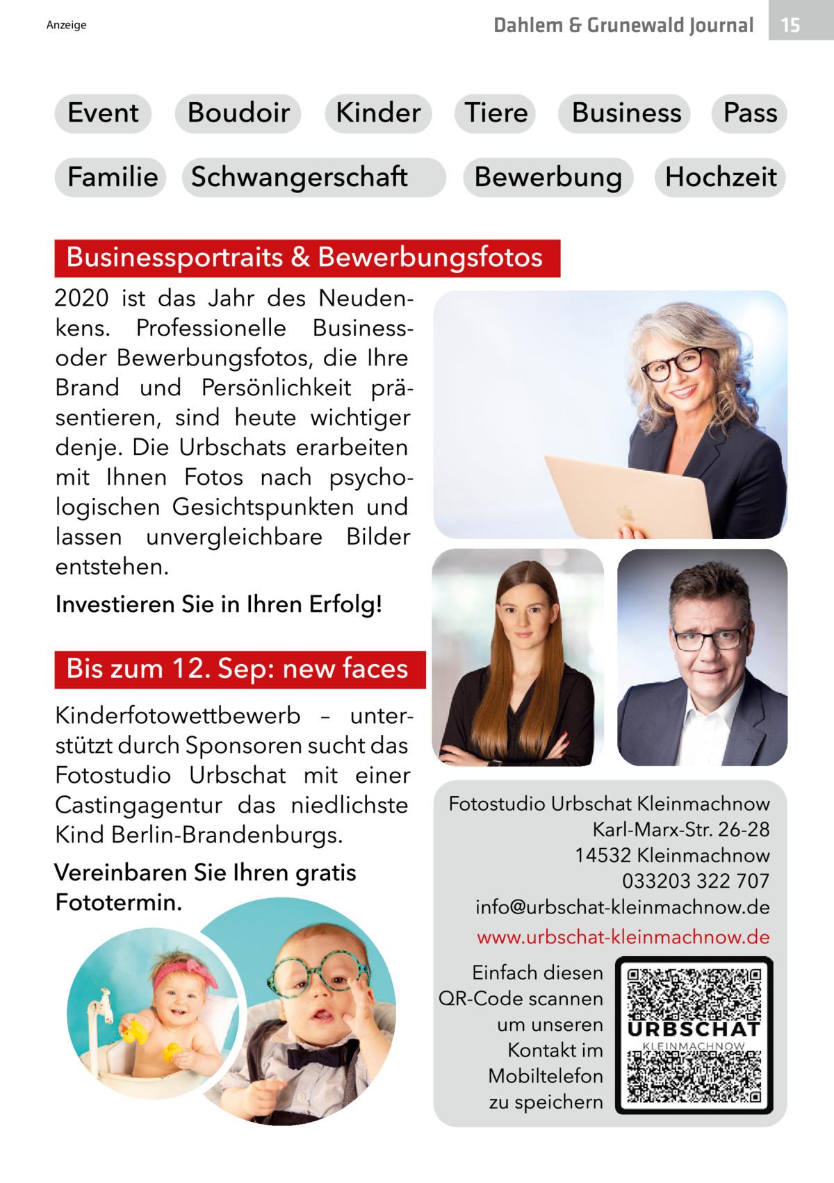 Anzeige  Dahlem & Grunewald Journal  15 15