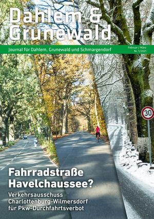 Titelbild Dahlem & Grunewald Journal 1/2021