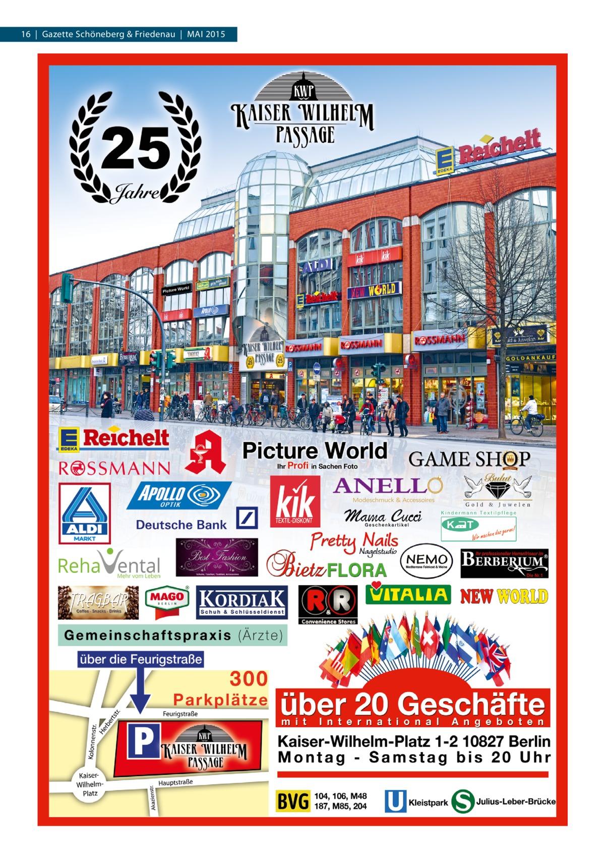 16 | Gazette Schöneberg & Friedenau | MAI 2015