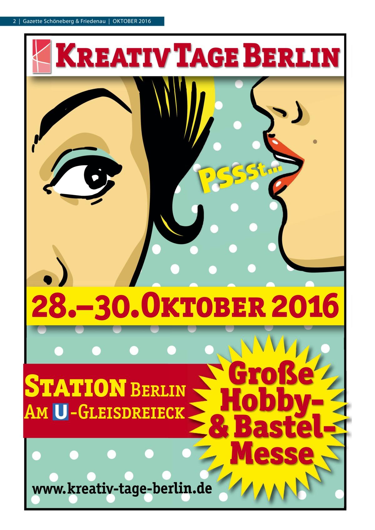 2|Gazette Schöneberg & Friedenau|Oktober 2016