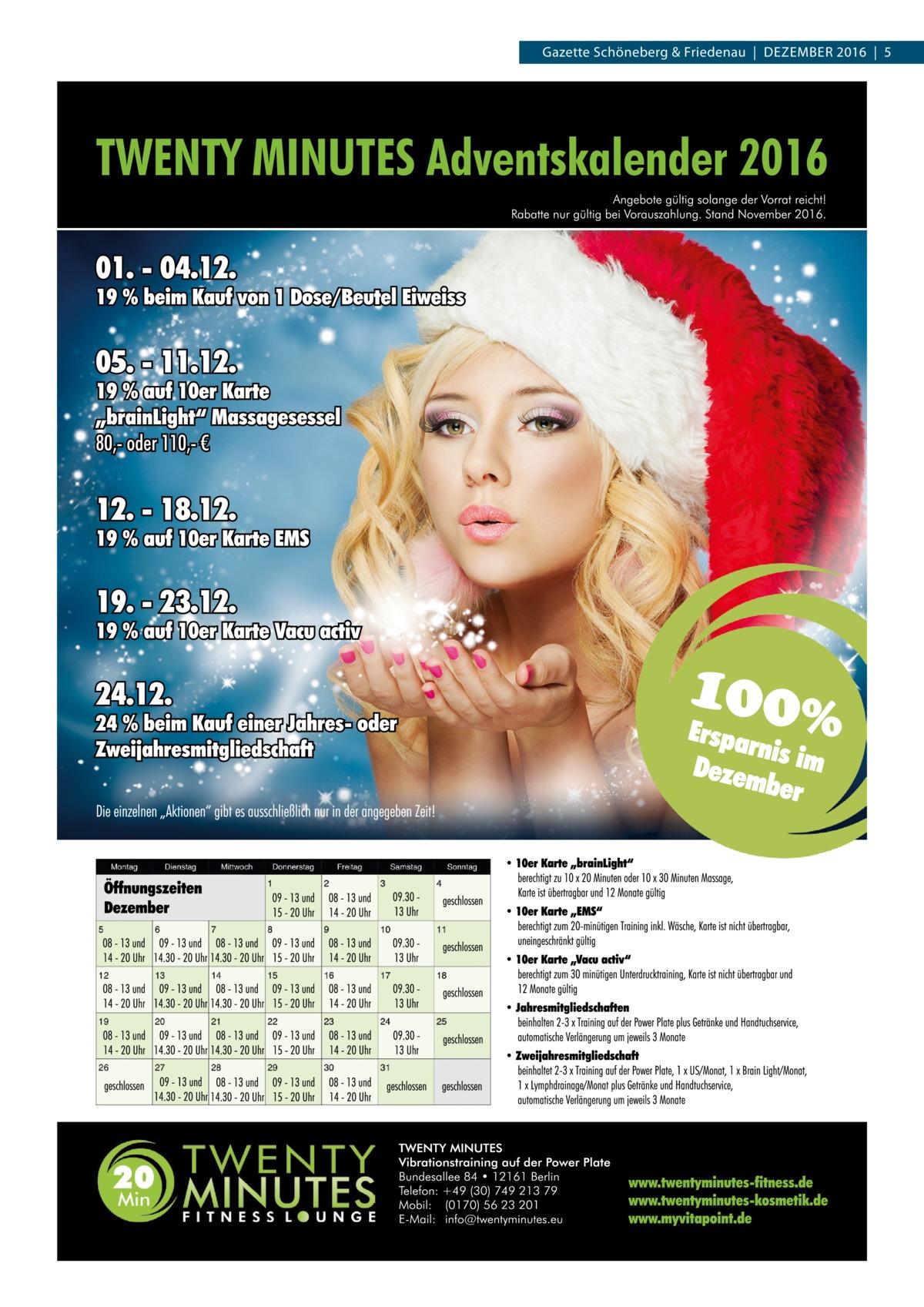 Gazette Schöneberg & Friedenau|Dezember 2016|5