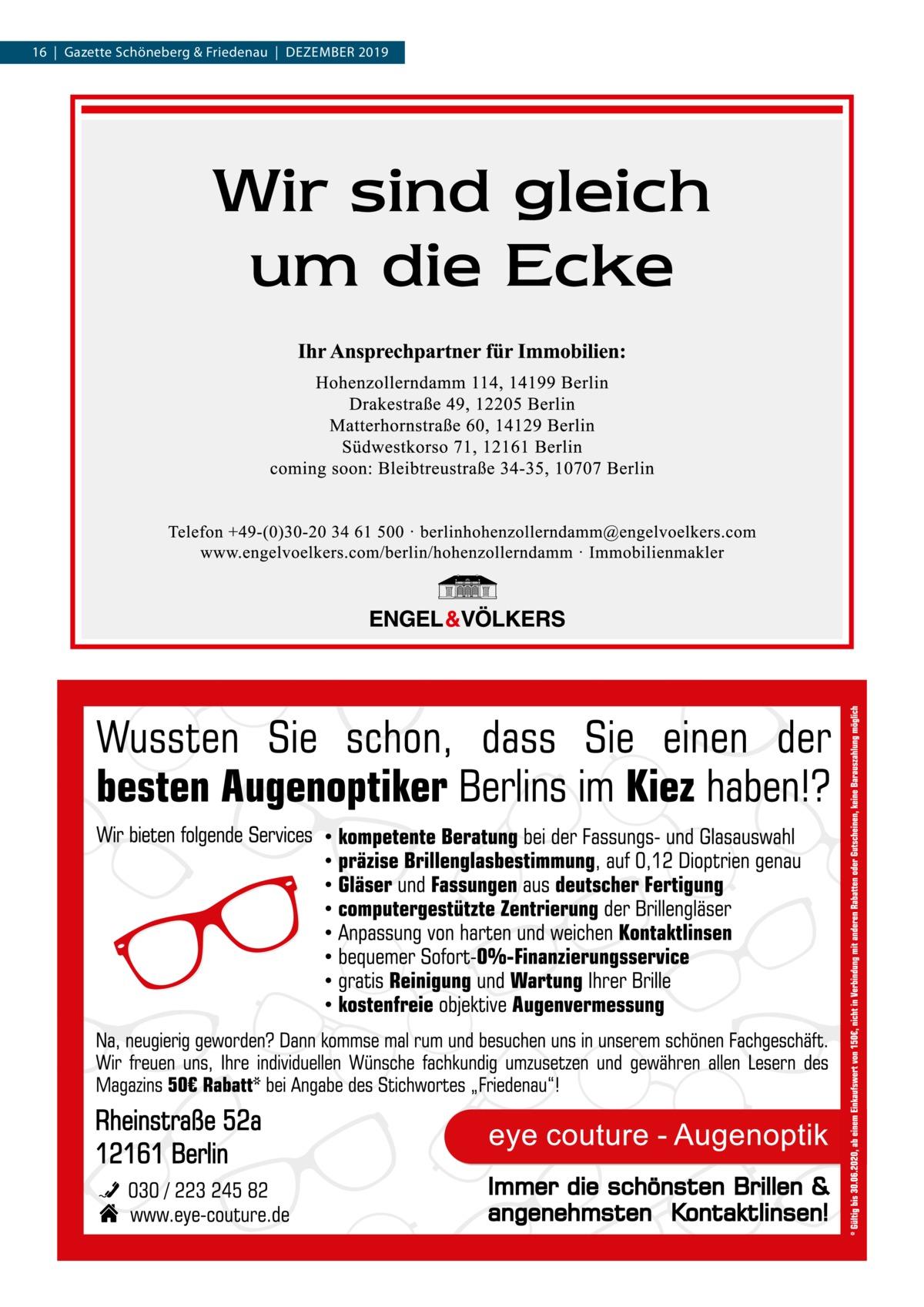 16|Gazette Schöneberg & Friedenau|DEZEMBER 2019