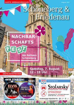 Titelbild Schöneberg & Friedenau 8/2021