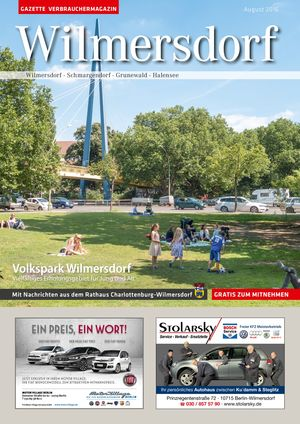 Titelbild Wilmersdorf 8/2016