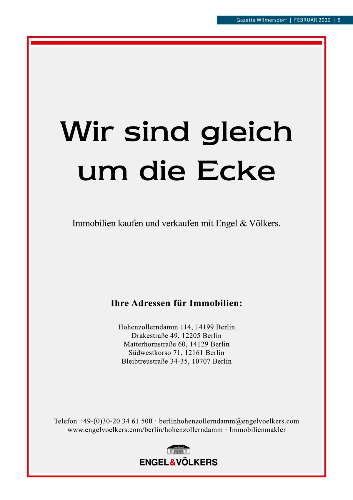 Gazette Wilmersdorf|Februar 2020|5