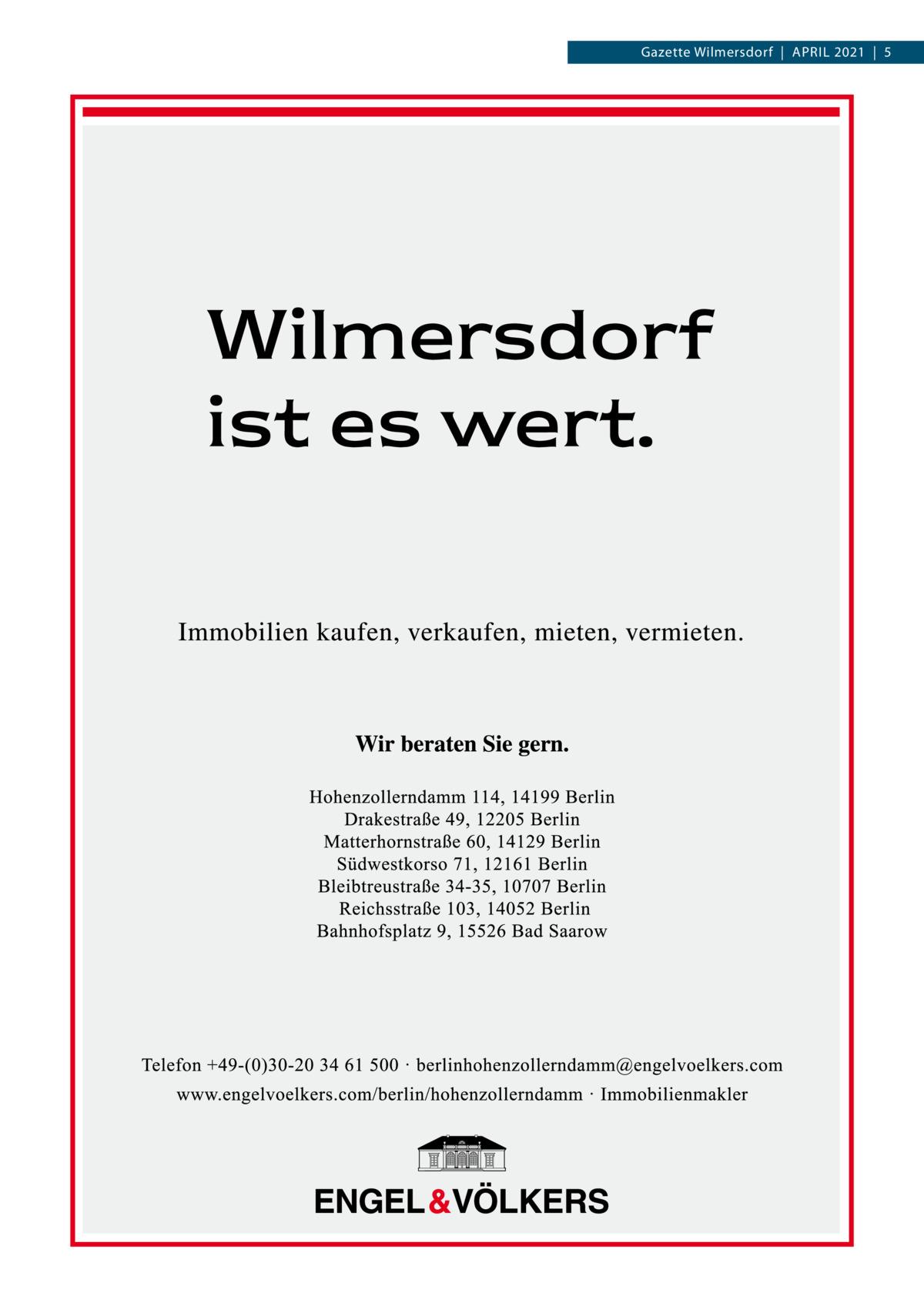 Gazette Wilmersdorf|April 2021|5