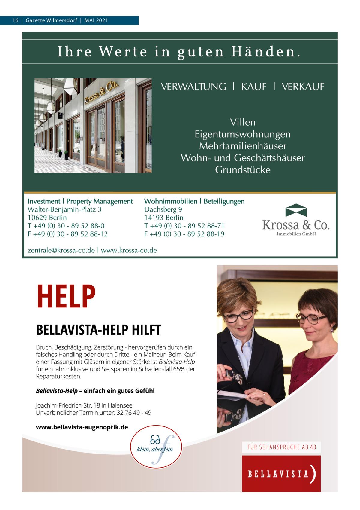 16 Gazette Wilmersdorf Mai 2021  Immobilien GmbH