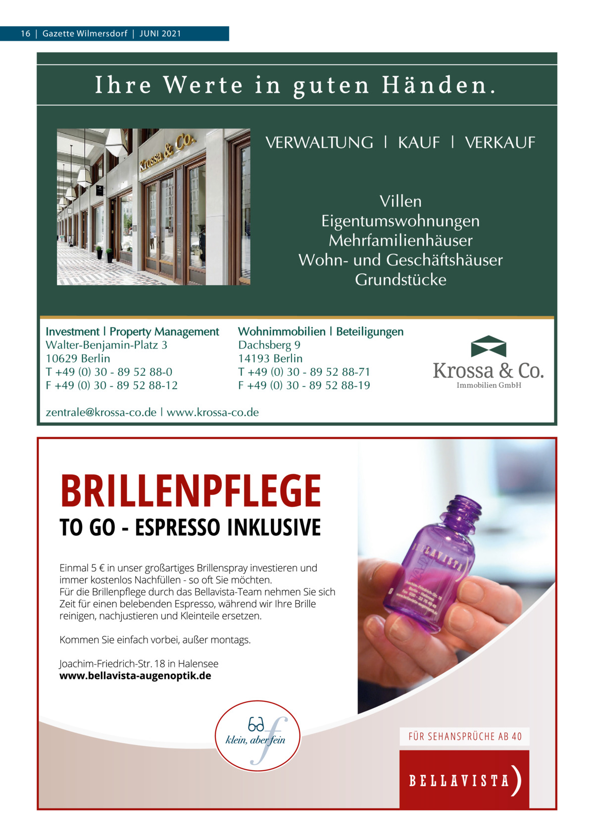 16 Gazette Wilmersdorf Juni 2021  Immobilien GmbH