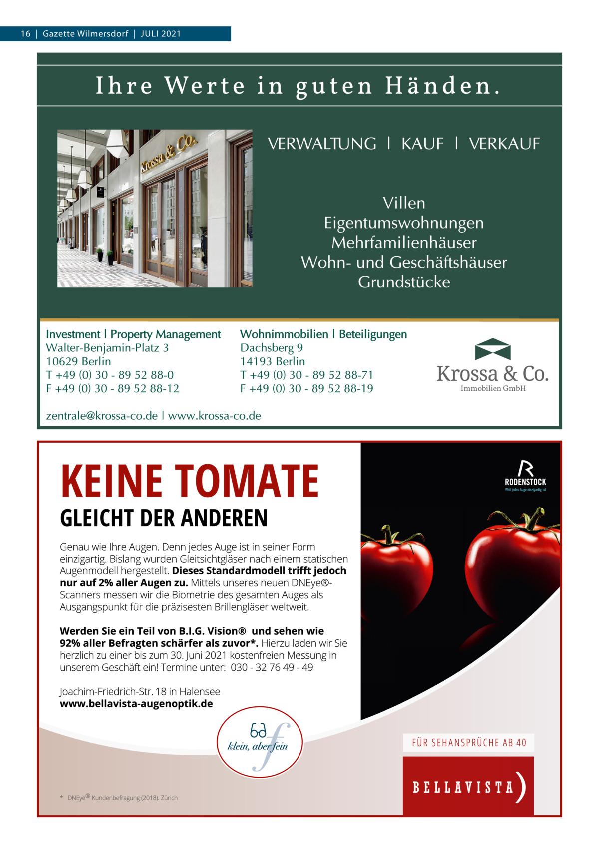 16 Gazette Wilmersdorf Juli 2021  Immobilien GmbH