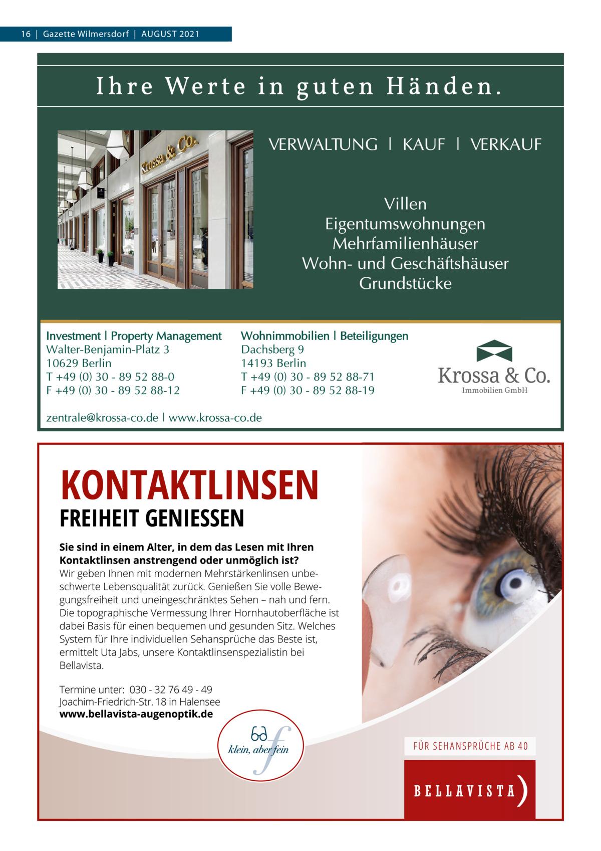 16 Gazette Wilmersdorf August 2021  Immobilien GmbH