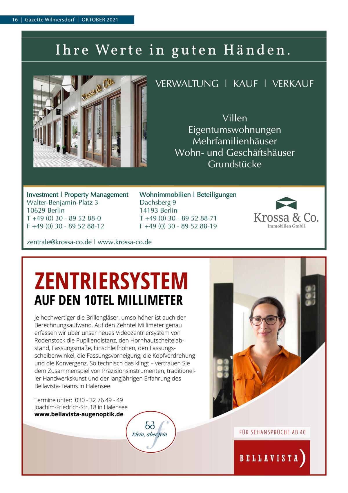 16 Gazette Wilmersdorf Oktober 2021  Immobilien GmbH
