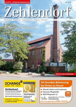 Titelbild Zehlendorf 7/2016