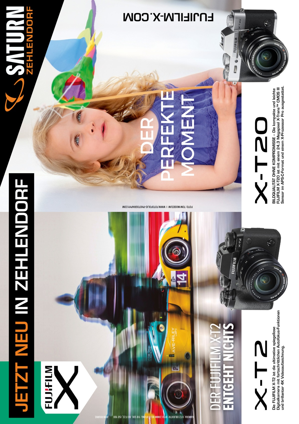 Die FUJIFILM X-T2 ist die ultimative spiegellose Digitalkamera mit fortschrittlichen Autofokus-Funktionen und brillanter 4K Videoaufzeichnung.  BILDQUALITÄT OHNE KOMPROMISSE – Die kompakte und leichte FUJIFILM X-T20 ist mit einem 24,3 Megapixel X-Trans™ CMOS III Sensor im APS-C-Format und einem X-Prozessor Pro ausgestattet.  JETZT NEU IN ZEHLENDORF  ZEHLENDORF  FUJIFILM-X.COM