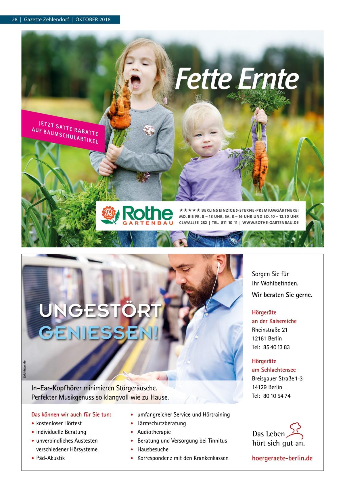 28|Gazette Zehlendorf|Oktober 2018