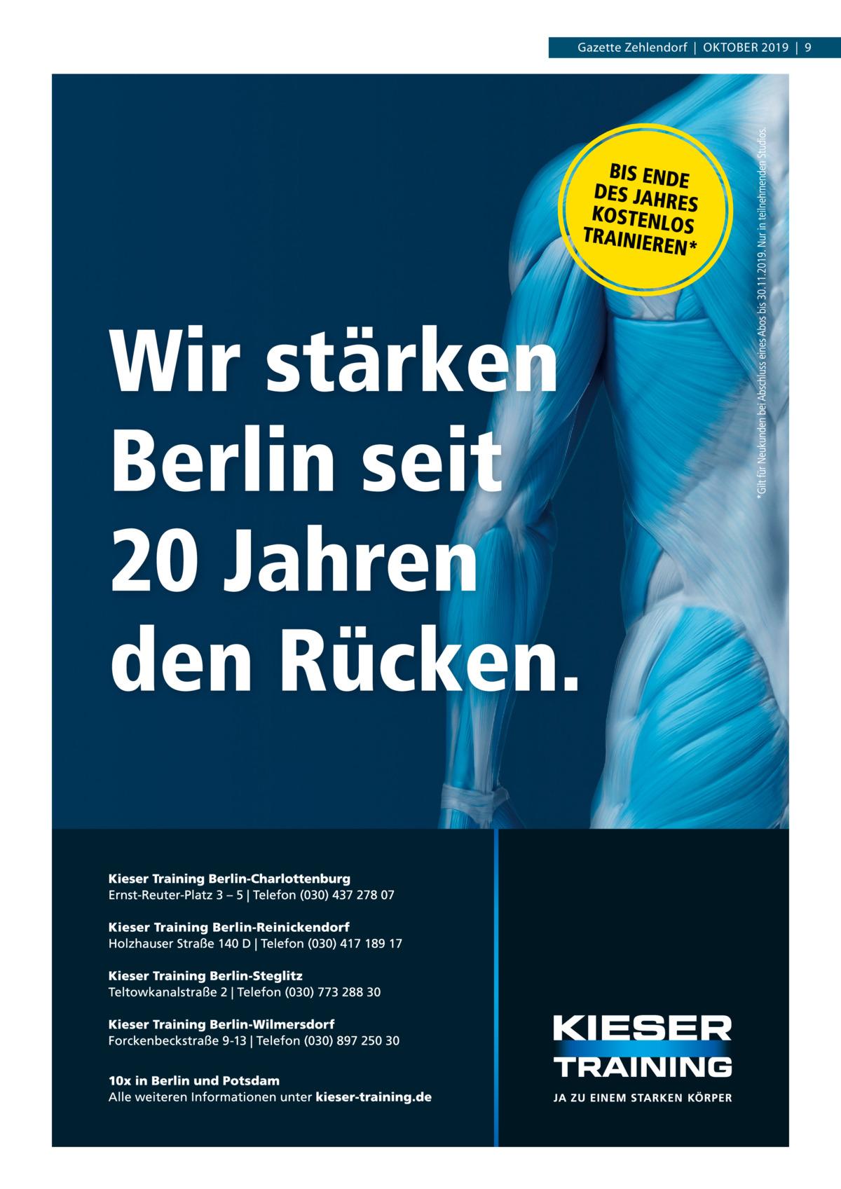 Gazette Zehlendorf|Oktober 2019|9