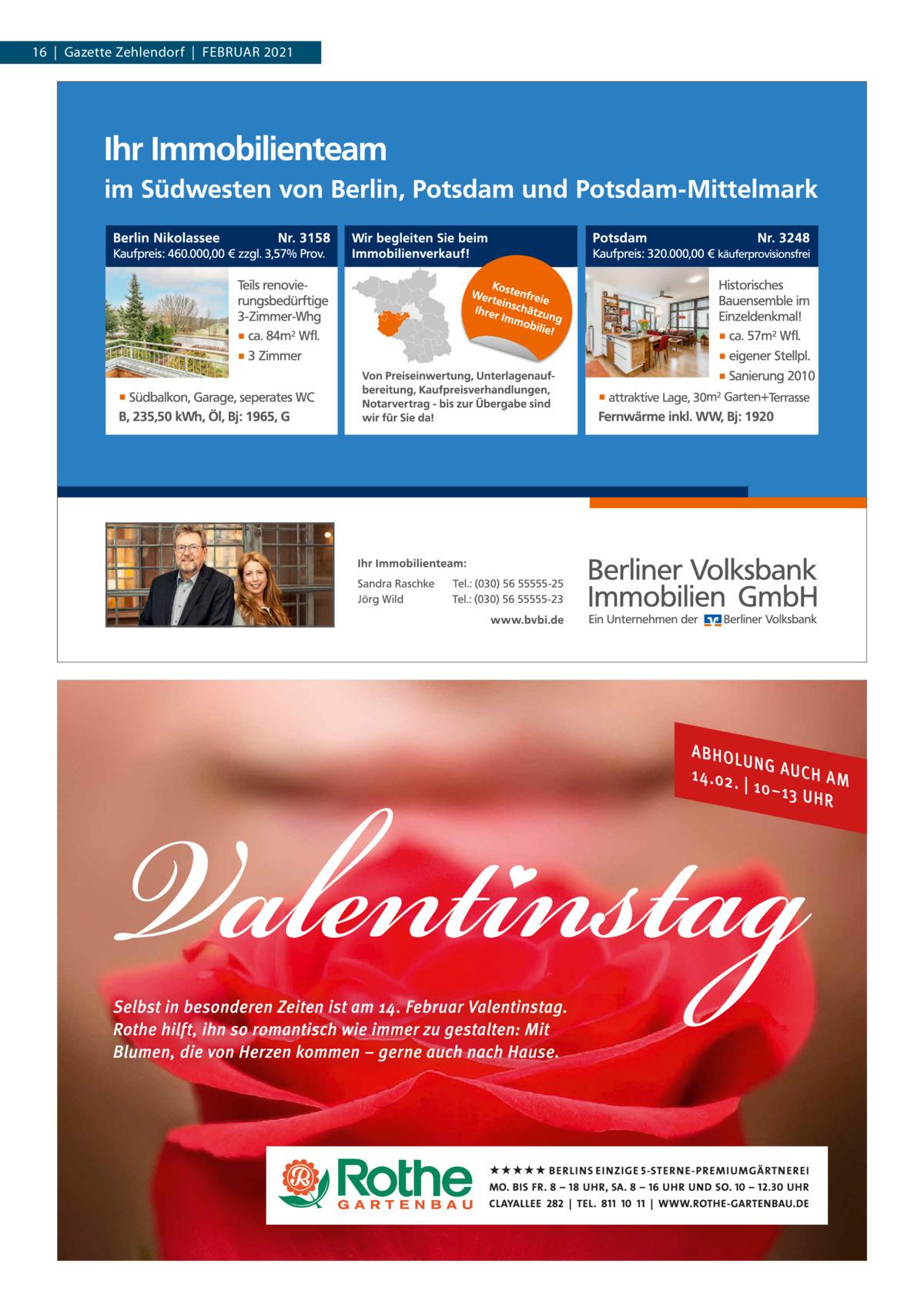 16 Gazette Zehlendorf FEBrUAr 2021